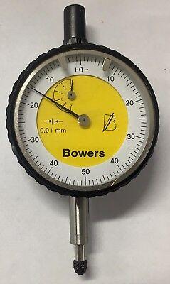 Fowler Bowers Dial Indicator 0-5.00mm Range 0.01mm Graduation
