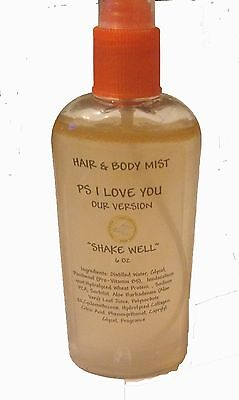 Bath and Body Mist Spray Hair Scented 6 oz Designer Types D