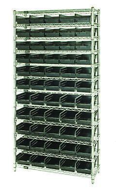 Wire Shelving Unit W55 Conductive Bins 1 Ea