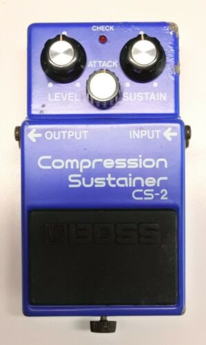 BOSS CS-2 Compression Sustainer Guitar Effects Pedal MIJ 1985 #109 DHL or EMS