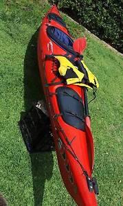KAYAK - Quality PRIJON with Paddle, Life Jacket & Skirt Gosford Gosford Area Preview