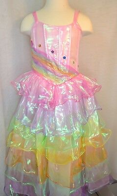 Teen Barbie Costume (Barbie Rainbow Dress, Beautiful dress up - Size 4, Character inspired)