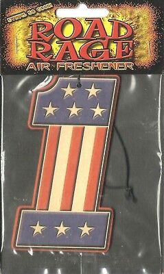 UNITED STATES no.1 flag AIR FRESHENER merchandise SEALED usa IMPORT