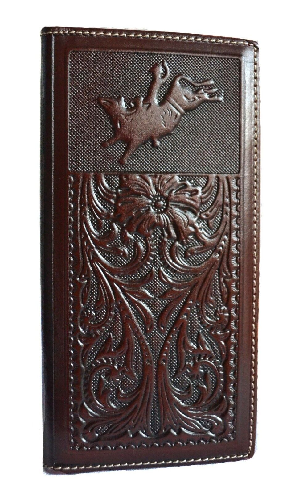 western men leather bull rider woven cowboy rodeo coffee che