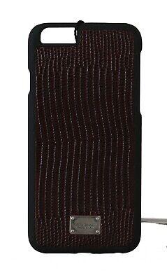 NEW $180 DOLCE & GABBANA Phone Case Bordeaux Leather Iguana Pattern iPhone6