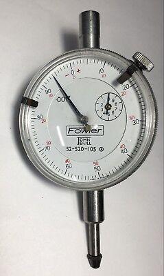 """.001/"""" Grad 52-520-100-0 Fowler Dial Indicator .250/"""" Range"""