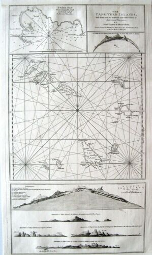 Cape Verde Antique Map: Robert Sayer: London, 1782: Cape Verde Islands: Africa
