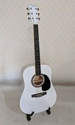 Johnson JG-620-W 620 Player Series Acoustic Guitar, White