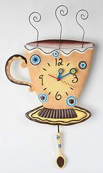 COFFEE MUG - BEAUTIFUL WALL CLOCK WITH PENDULUM
