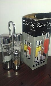 Glass salad vinegar soya sauce set(New in box) Strathfield Strathfield Area Preview