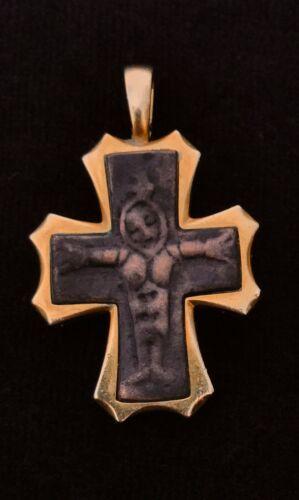 Barakat Antiquity Byzantine Cross (500 AD - 900 AD) in 18K Yellow Gold Pendant