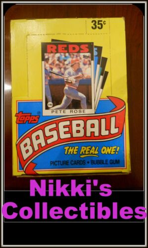 (1) 1986 TOPPS BASEBALL CARD WAX BOX FROM CASE********