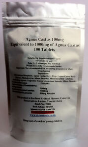 Agnus Castus 1000mg 100 tablets Vitex agnus-castus, Chaste Tree, Chasteberry