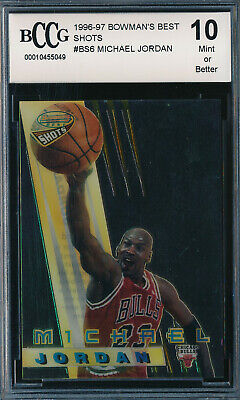 MICHAEL JORDAN 1996-97 BOWMAN'S BEST SHOTS BCCG 10 CARD #BS6