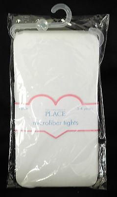 THE CHILDREN'S PLACE MICROFIBER TIGHTS : WHITE : AGE 3-4 YEARS