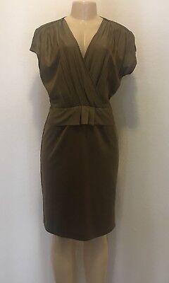 NWOT $765.00 Max Mara Silk/Cotton Maglia Jersey Zipper Shoulder Dress Sz 12