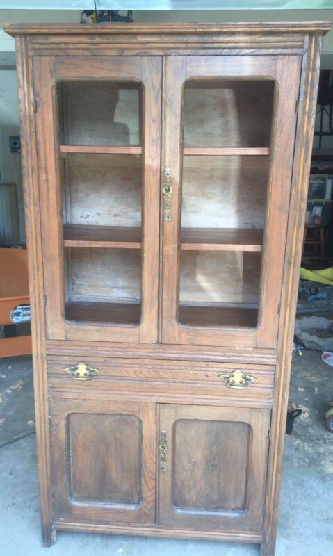 Antique Pie Safe Cabinet Cupboard  34w X 68h X 15d