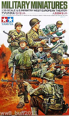 Tamiya 35048: 1/35 WWII US Infantry West European Theater (8 Figures)