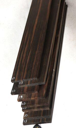"""Macassar ebony guitar fingerboard fretboard blank 2.6x19.75"""" MF23"""