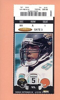 Cleveland Browns @ Jacksonville Jaguars 2001 NFL ticket Gary Walker photo Auburn for sale  Shipping to Canada