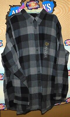 New Mens Foundry Long Sleeve Flannel Shirts Big & Tall $19.99 Free Shipping Big Tall Flannel Shirts