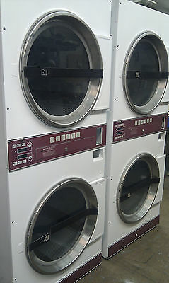 Laundromat Commercial Double Dryer In White