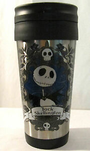 Jack Skellington Nightmare Before Christmas Disney Metal Travel Mug New