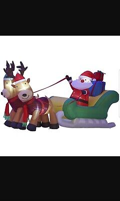 Inflatable Santa And Reindeer (alcove 8' Inflatable Santa and Reindeer)
