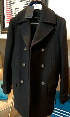 J.LINDEBERG Men's thick and heavy Wilton DB Duffel Wool Coat Size UK 38 / EU 48