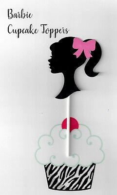 Barbie cupcake topper cutout set of - Barbie Cupcake Toppers