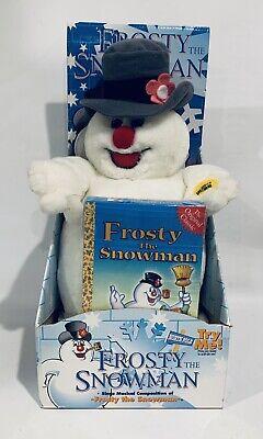 "Vintage 1998 Frosty The Snowman Singing Plush 12"" w/ VHS Tape - Gemmy"