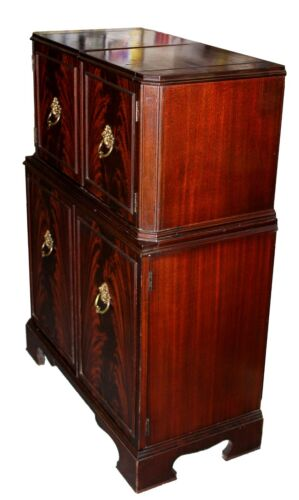 1950s Flame Mahogany Bar & Cocktail Cabinet by Wayside of Milford