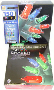 150-Chaser-Lights-Multi-Color-16-Function-Christmas-Holiday-Outdoor-Decoration