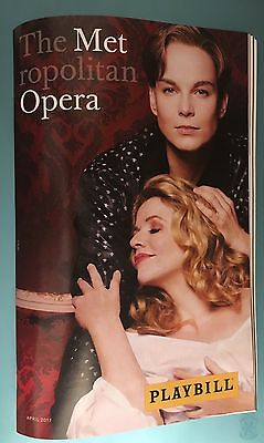 2017 Metropolitan Opera New Production Playbill Der Rosenkavalier Renee Fleming