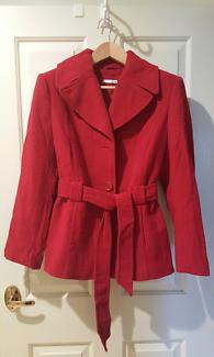 Coat/Jacket - Red Size 14