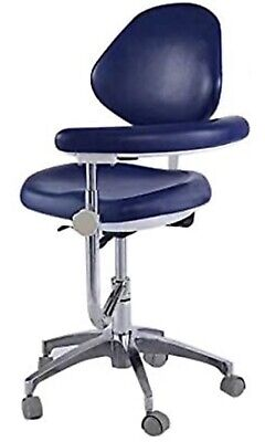 Bonew Dental Stool Assistant Chair With Armrest Pu Leather Height Adjustable