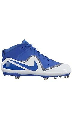 84fa1ced914121 NEW NIKE Air Force Trout 4 PRO BABSEBALL CLEAT blue white size 12.5