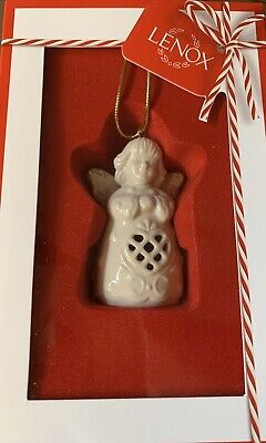 Lenox Christmas Ornament Angel Wishes Heart Bell New In Box ()