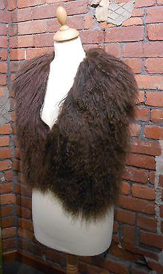 Karl Donoghue Brown Mongolian Shearling Gilet + Selfridges bag. Reduced