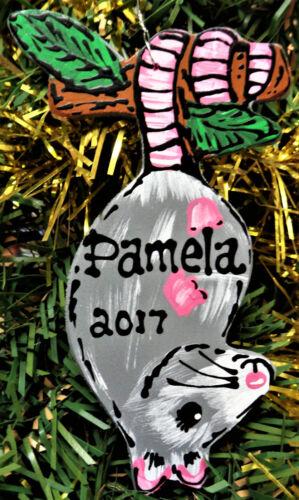 OPOSSUM Christmas Ornament U CHOOSE NAME & YEAR Personalized Name Holiday Decor