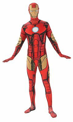 Iron Man 2nd Skin Jumpsuit Costume for Adults size L New by Rubies 880825 - Adult Ironman Costume