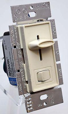 Lutron Skylark S-603PG-LA Halogen Slide Rocker Light Dimmer Switch 600w ALMOND