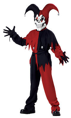 Evil Jester Clown Child Costume - Evil Jester Kids Costume