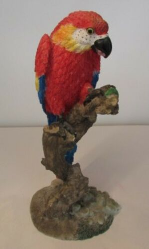 """Large Parrot Figurine Statue 11.5"""" Tall"""
