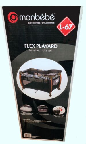 Monbebe Flex Playard (L-67) Boho Deluxe Portable Bassinet Changer - BNIB Sealed