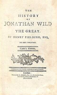 The History of Jonathan Wild The Great, Fielding, Henry, Good Condition Book, IS