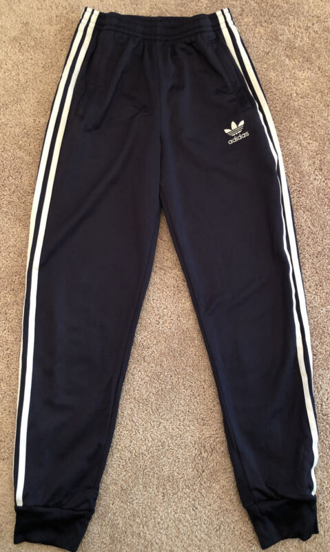 Adidas Youth Size Large Jogging Pants Black And White