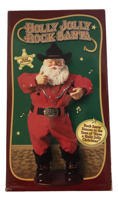 Holly Jolly Rock Santa Christmas Dancing And Singing Alan Jackson Country Music