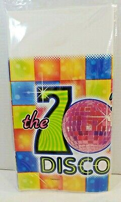 DISCO Ball 70s Flash Fever Dance Party Mid Century FUN Paper Tablecover 54