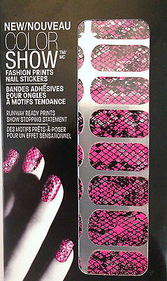 Maybelline Color Show Fashion Prints Nail Stickers 10 Fierce N Fuchsia Edt